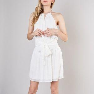 Blissful Eyelet Smocked Waist Dress - Ivory